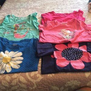 Bundle of 5 girls tshirts